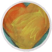 Heart Round Beach Towel