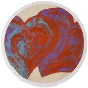 Hearts A-flutter Round Beach Towel