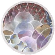 Hearts Bubbling Over Round Beach Towel