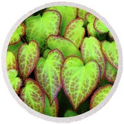 Hearts In Nature Round Beach Towel