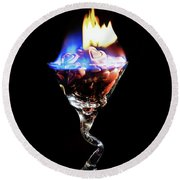 Hearts On Fire Round Beach Towel