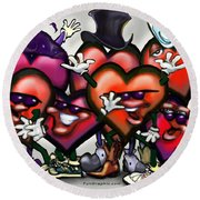 Hearts Party Round Beach Towel