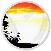 Heat Wave Round Beach Towel