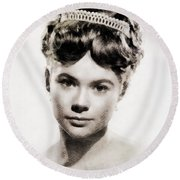 Heather Sears, Vintage Actress Round Beach Towel
