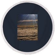 Heaven Above The Clouds Round Beach Towel