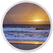 Heaven And Paradise Round Beach Towel