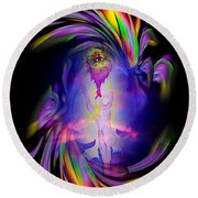 Heavenly Apparition Round Beach Towel