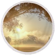 Heavenly Arch Sunrise Round Beach Towel