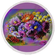 Heavenly  Blossom Round Beach Towel