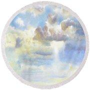 Heavenly Clouded Beautiful Sky Round Beach Towel
