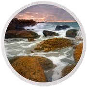 Heavenly Dawning Round Beach Towel