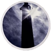 Heavenly Eclipse Round Beach Towel
