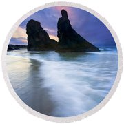 Heavenly Halo Round Beach Towel by Mike  Dawson