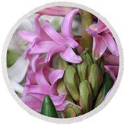 Heavenly Hyacinths Round Beach Towel