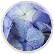 Heavenly Hydrangeas Round Beach Towel