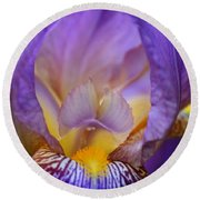 Heavenly Iris Round Beach Towel