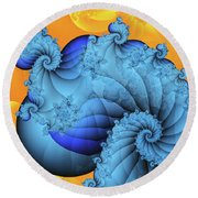 Heavenly Place Round Beach Towel