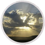 Heavenly Rays Round Beach Towel