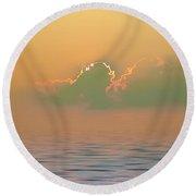 Heavenly Sunset Round Beach Towel