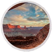 Heavenly View Round Beach Towel