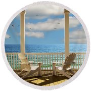 Heaven's Gate Round Beach Towel