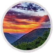 Heaven's Gate - West Virginia 2 Round Beach Towel