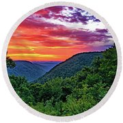 Heaven's Gate - West Virginia - Paint Round Beach Towel