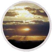 Heaven's Rays 2 Round Beach Towel