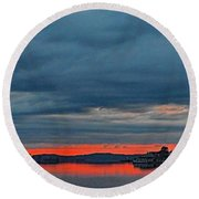 Heavy Cloud Cover  Round Beach Towel