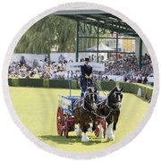 Heavy Horses Competition Round Beach Towel