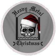 Heavy Metal Christmas Round Beach Towel