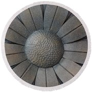 Heavy Metal Flora Round Beach Towel