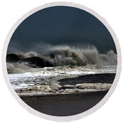Stormy Surf Round Beach Towel