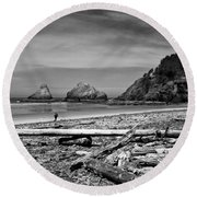 Heceta Head Lighthouse Round Beach Towel