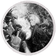Hector Berlioz, French Composer Round Beach Towel