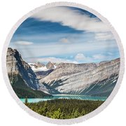 Hector Lake, Canadian Rockies Round Beach Towel