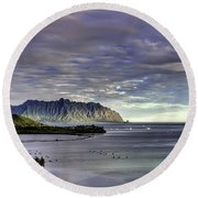He'eia And Kualoa 2nd Crop Round Beach Towel