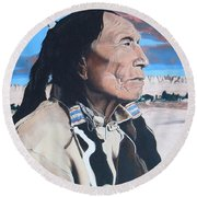 Hehaka Sapa Black Elk Round Beach Towel