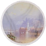Heidelberg Round Beach Towel by Thomas Miles Richardson