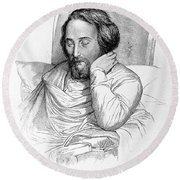 Heinrich Heine, German Writer Round Beach Towel