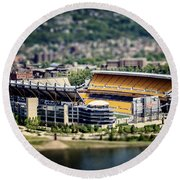 Heinz Field Pittsburgh Steelers Round Beach Towel