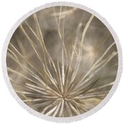 Held In Place Round Beach Towel