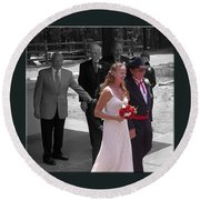 Helen And Bob Round Beach Towel