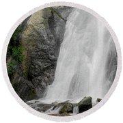 Helen Hunt Falls 2 Round Beach Towel