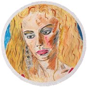 Helen Of Troy Round Beach Towel