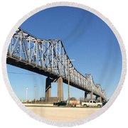 Helena Arkansas Bridge 2 Round Beach Towel