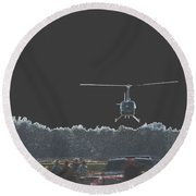 Helicopter Lift Round Beach Towel