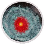Helix Nebula Round Beach Towel by Georgeta  Blanaru