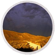 Hell Ash Round Beach Towel