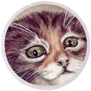 Hello Clarice Round Beach Towel